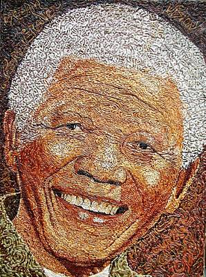 Painting - Nelson Mandela - In The Pyramid Of Our Minds by Bankole Abe