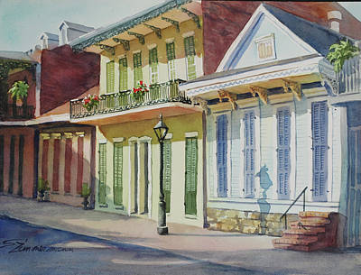 Creole Cottage Wall Art - Painting - In The Quarter by Sue Zimmermann