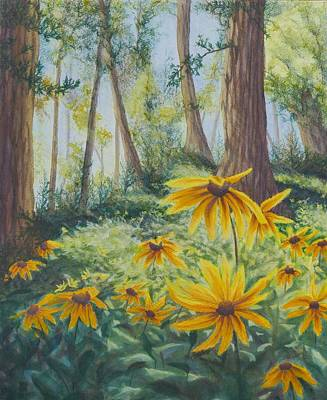 Nature Center Painting - In The Quiet by Lisa Gibson Art