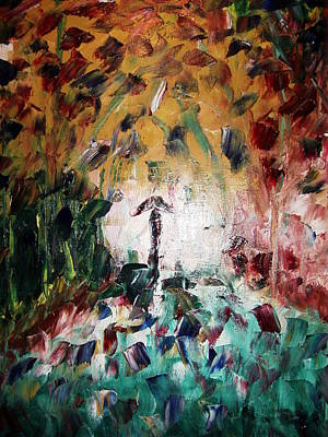 In The Rain Art Print by Adeniyi Peter