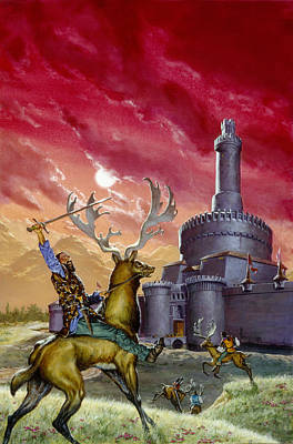 Knights Castle Painting - In The Red Lords Reach by Richard Hescox