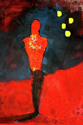 Painting - In The Red by Nancy Merkle