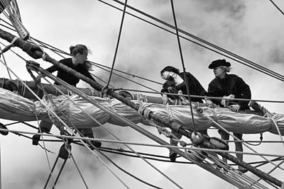 In The Rigging Art Print by Robert Lacy