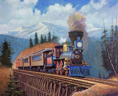 Painting - In The Rockies by Mike Jeffries