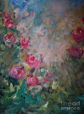 Painting - In The Rose Garden by Mary-Lee Sanders