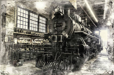 Photograph - In The Roundhouse by Brad Allen Fine Art