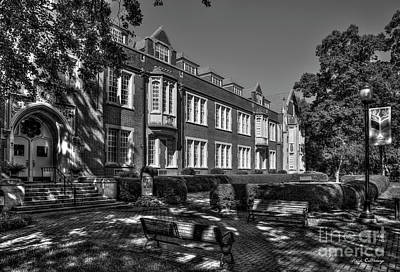 Photograph - In The Shade B W Campbell Hall Columbia Theological Seminary Art by Reid Callaway