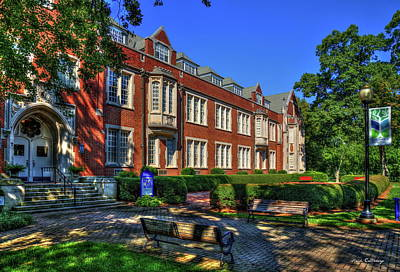 Photograph - In The Shade Campbell Hall Columbia Theological Seminary Art by Reid Callaway