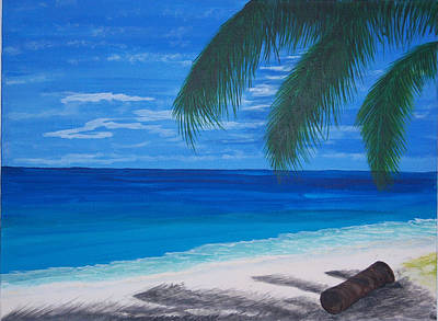 In The Shade Of A Palm Art Print by Nancy Nuce