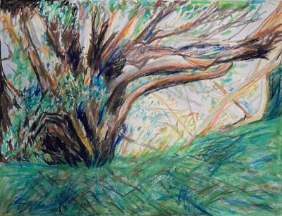 Painting - In The Shade Of The Sycamore Tree Near Ashdod by Esther Newman-Cohen