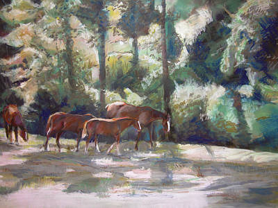 Painting - In The Shade by Synnove Pettersen