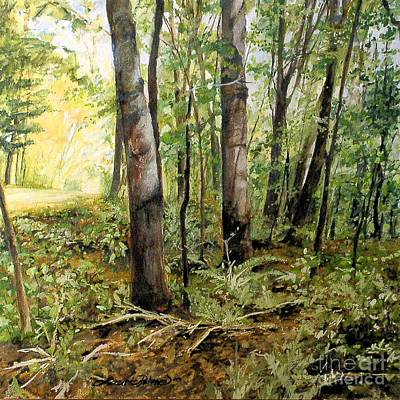 Painting - In The Shaded Forest  by Laurie Rohner