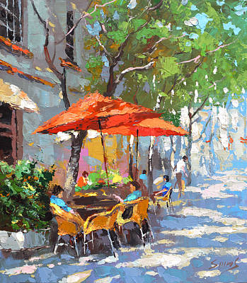 Painting - In The Shadow Of Cafe by Dmitry Spiros