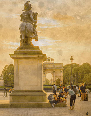 Photograph - Paris, France - In The Shadow Of Glory by Mark Forte