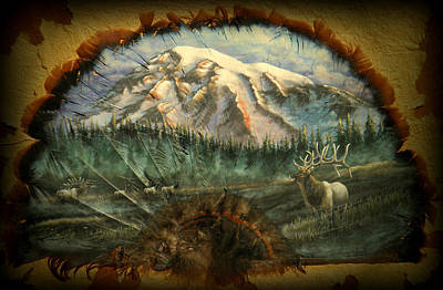 Painting - In The Shadow Of Rainier by Sherry Orchard