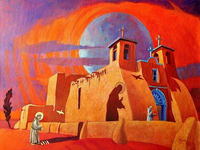 Art Print featuring the painting In The Shadow Of St. Francis by Art West