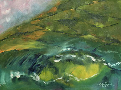 Painting - In The Shadow Of The Glen by Mary Benke
