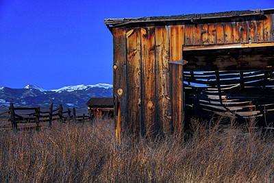 Photograph - In The Shadow Of The Mountains by Mike Flynn