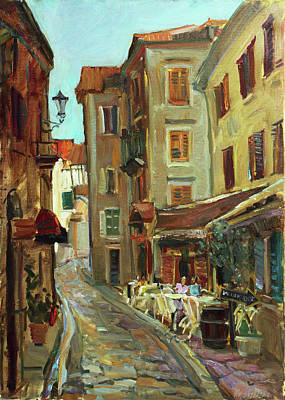 Painting - In The Shadow Of The Old Cafe by Juliya Zhukova