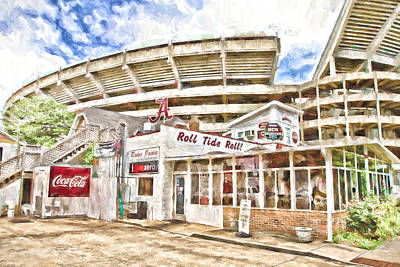 Bama Photograph - In The Shadow Of The Stadium by Scott Pellegrin