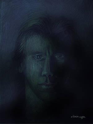 Pastel Pastel - In The Shadows Of Despair by Arline Wagner