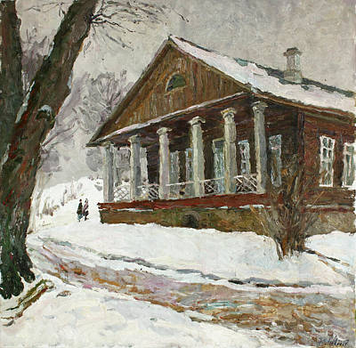 Painting - In The Silence Of The Snow Covered Park by Juliya Zhukova