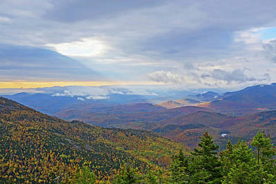 Photograph - In The Spotlight Ray Of Sun From Giant Mountain Keene Valley Ny Adirondacks by Toby McGuire