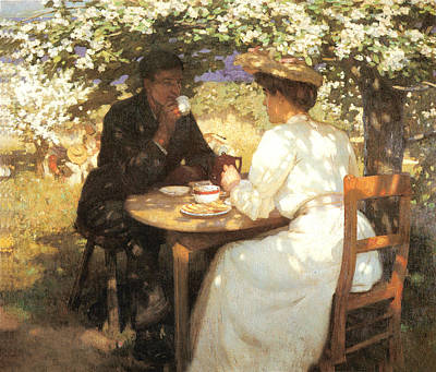 Fantasy Royalty-Free and Rights-Managed Images - In the Spring by Harold Knight