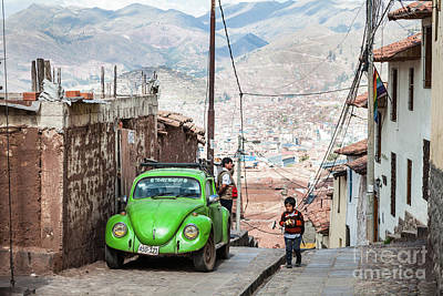 Photograph - In The Streets Of Cusco by Olivier Steiner