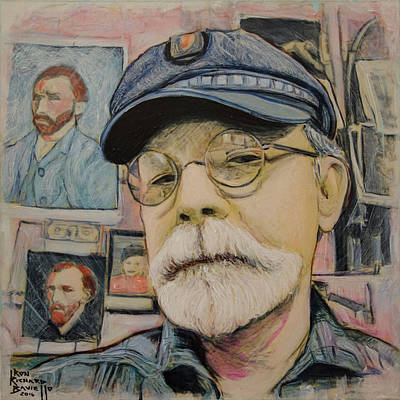 Painting - In The Studio Self Portrait by Ron Richard Baviello