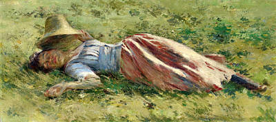 Painting - In The Sun by Theodore Robinson