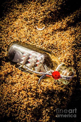 Sand Bottles Photograph - In The Sunken Reef by Jorgo Photography - Wall Art Gallery