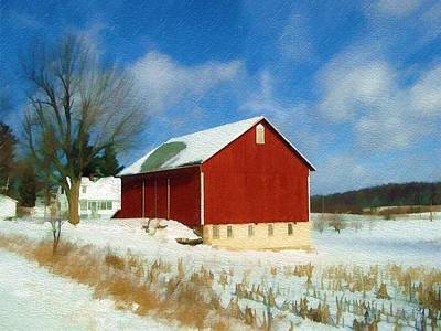 In The Throes Of Winter Art Print by Sandy MacGowan
