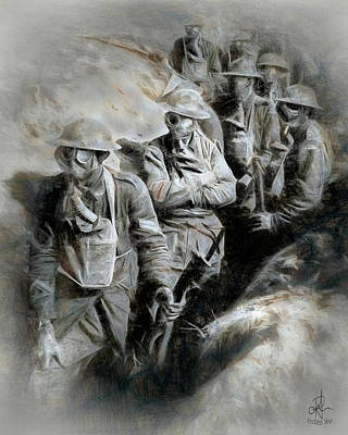 Digital Art - In The Trenches by Pennie McCracken