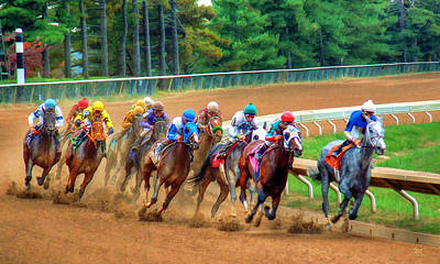 In The Turn At Keeneland Art Print