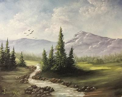 Painting - In The Valley  by Justin Wozniak