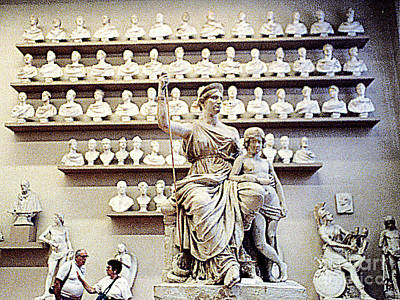 Photograph - In The Vatican Museum - Rome, Italy by Merton Allen
