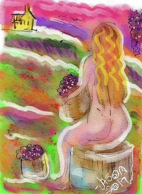 Digital Art - In The Vineyard by Jason Nicholas