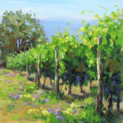 Painting - In The Vineyard by Karen Ilari
