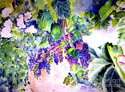 Winery Painting - In The Vineyards by Sandy Ryan