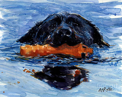 Water Retrieve Painting - In The Wake by Molly Poole