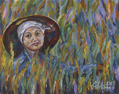 Painting - In The Wheat Field by Michael Cinnamond