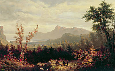 William Sonntag Painting - In The White Mountains New Hampshire by William Louis Sonntag