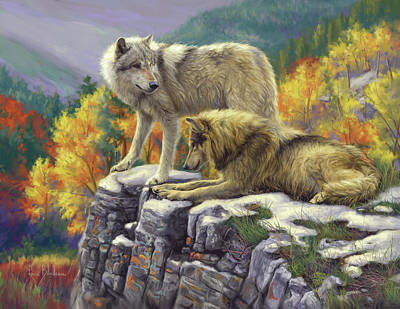 Digital Painting - In The Wild by Lucie Bilodeau
