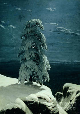 Snowed Trees Painting - In The Wild North by Ivan Ivanovich Shishkin