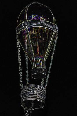Mixed Media - In The Wind Hot Air Balloon Art by Lesa Fine