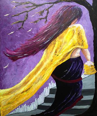 Nepali Painting - In The Wind by Samarpan Maharjan