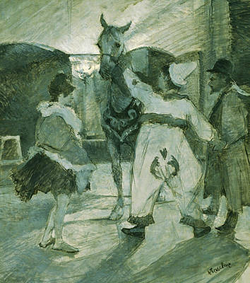Painting - In The Wings At The Circus by Henri de Toulouse-Lautrec