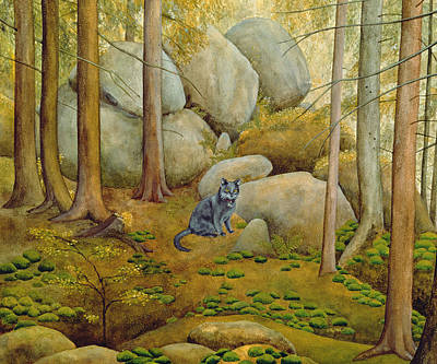 Pussy Painting - In The Wood by Ditz