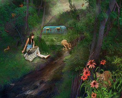 Digital Art - In The Wood by Sandra Schiffner